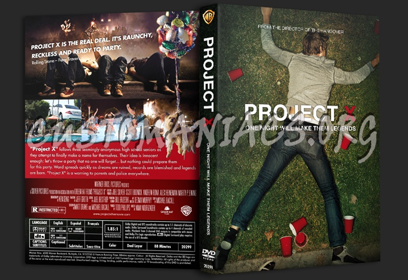 Project X dvd cover