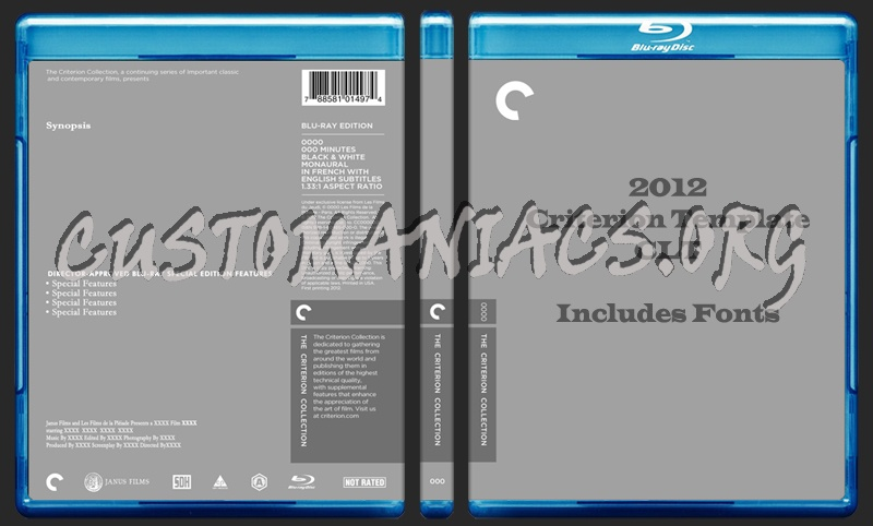 Criterion Collection Template dvd label