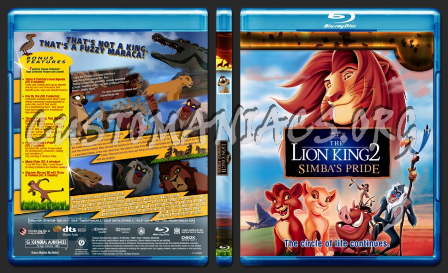 The Lion King 2 blu-ray cover