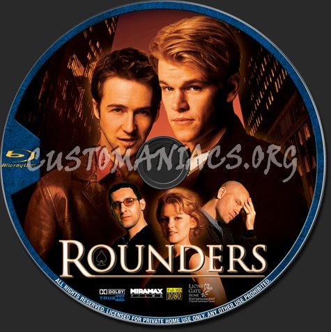 Rounders blu-ray label