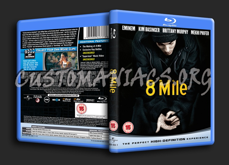 8 Mile Dvd 8 Mile Blu-ray Cover