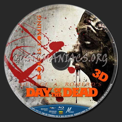 day of the dead 3d bluray label dvd covers amp labels by