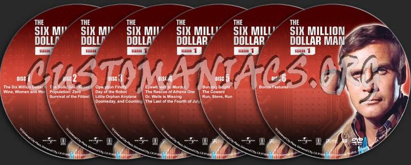 The Six Million Dollar Man - Season 1 dvd label