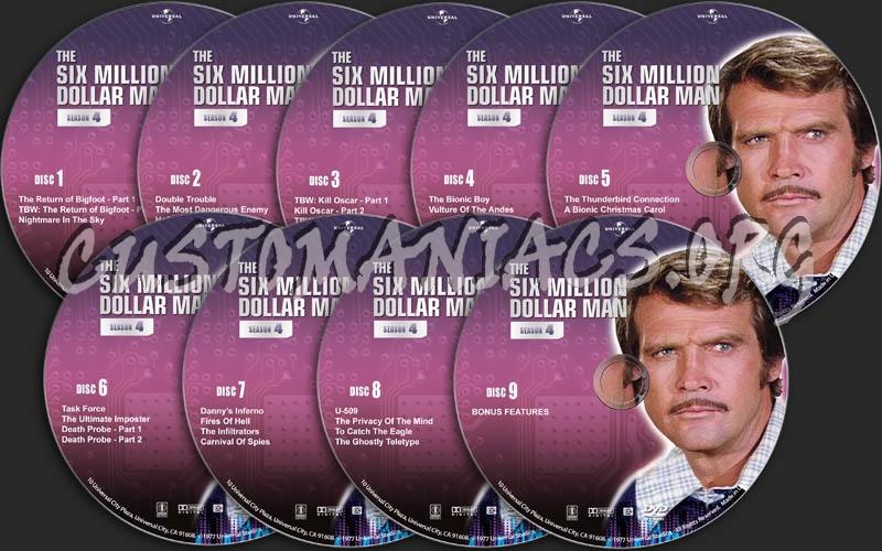 The Six Million Dollar Man - Season 4 dvd label