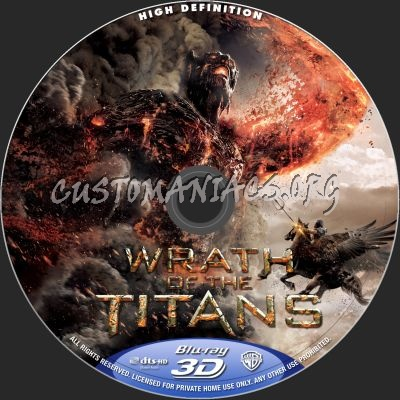 Wrath Of The Titans (2D+3D) blu-ray label