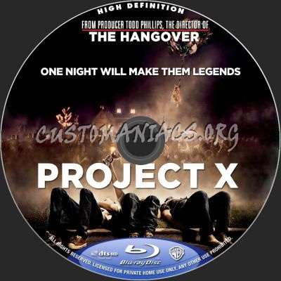 Project X blu-ray label