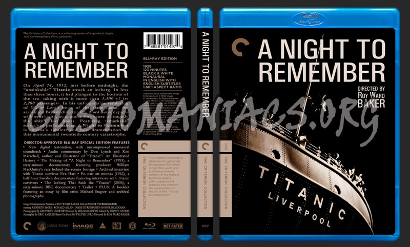 007- A Night To Remember blu-ray cover