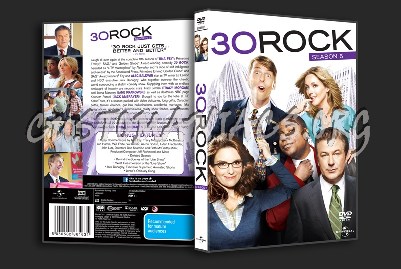 30 Rock Season 5 dvd cover - DVD Covers & Labels by