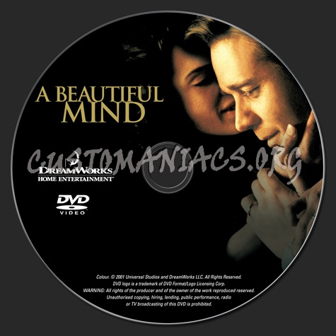 A Beautiful Mind dvd label