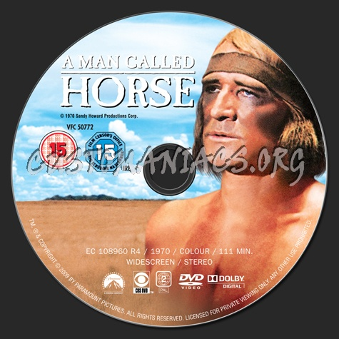 A Man Called Horse dvd label