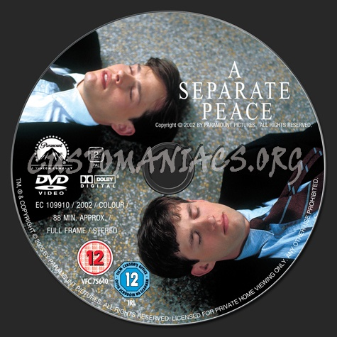 A Separate Peace dvd label
