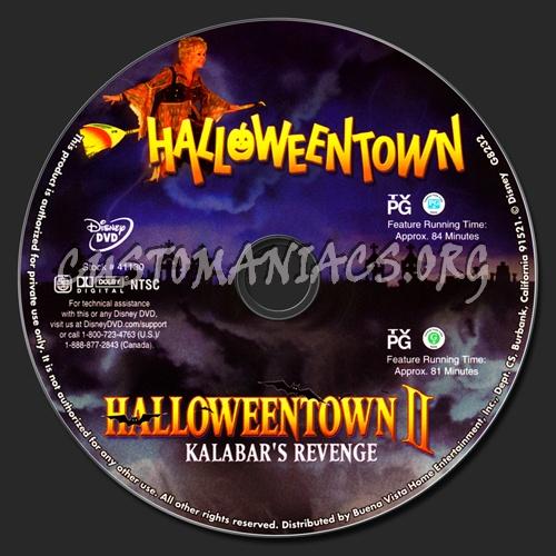 Halloweentown /  Halloweentown 2 dvd label