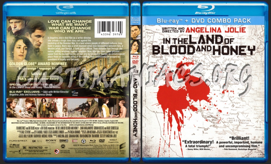 In the land of blood and honey blu-ray cover dvd covers & labels.