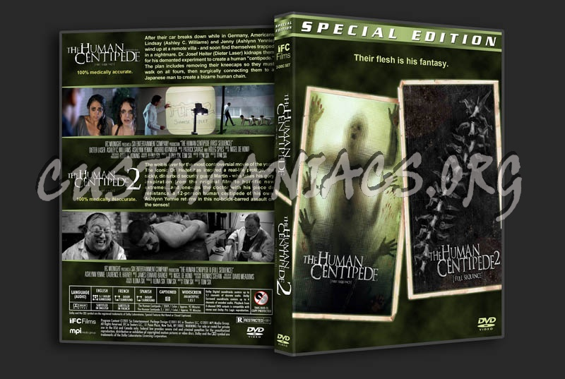 The Human Centipede Double Feature dvd cover