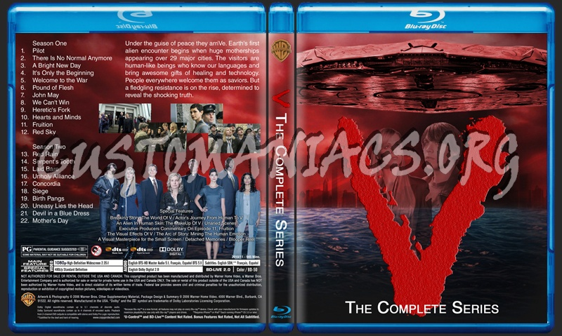 V The Complete Series blu-ray cover