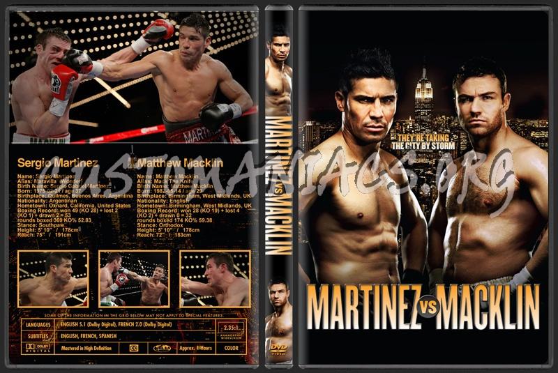 Martinez vs Macklin dvd cover