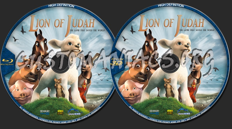 The Lion Of Judah blu-ray label