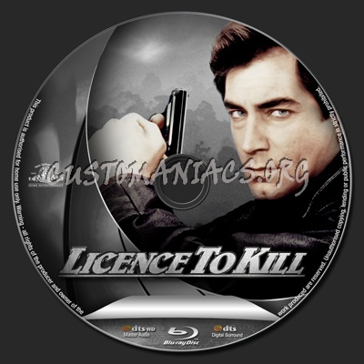 Licence To Kill blu-ray label