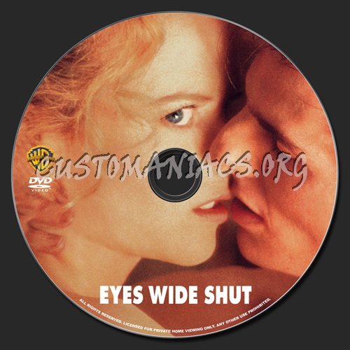 Eyes Wide Shut dvd label