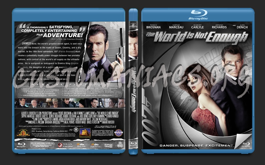 The World is Not Enough blu-ray cover