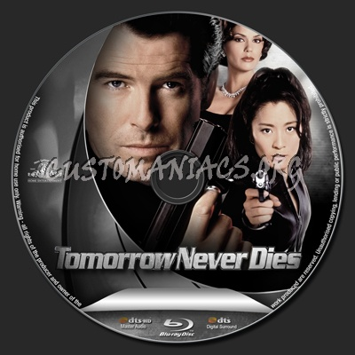 Tomorrow Never Dies blu-ray label