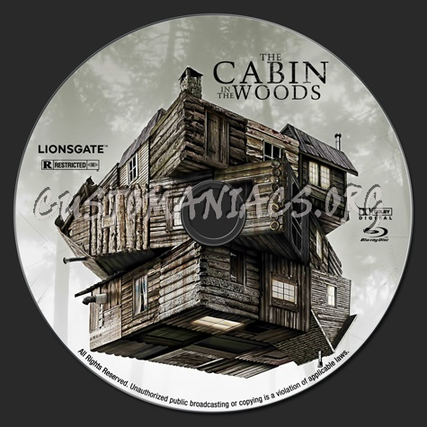 The Cabin In The Woods blu-ray label
