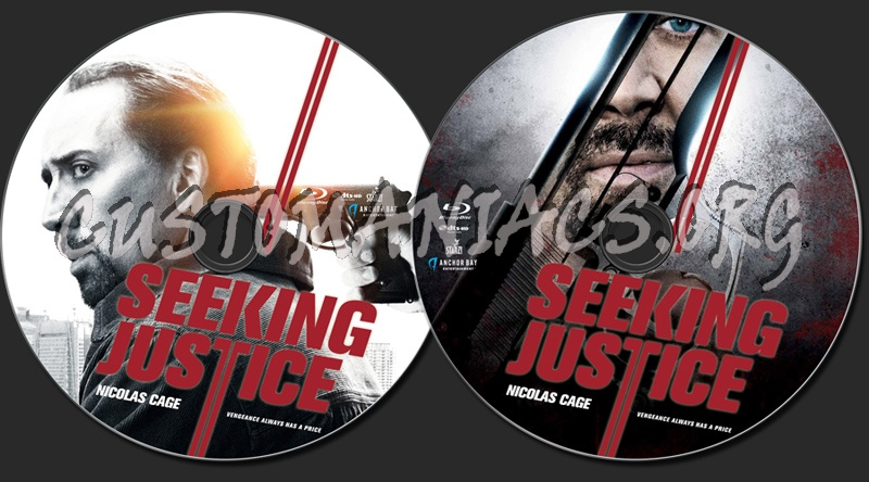 Seeking Justice blu-ray label