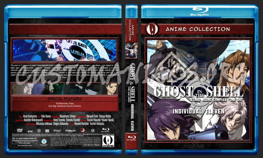 Anime Collection Ghost In The Shell Stand Alone Complex Individual Eleven Blu Ray Cover Dvd Covers Labels By Customaniacs Id 162992 Free Download Highres Blu Ray Cover