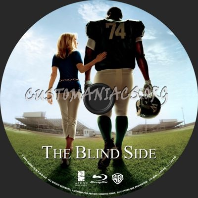 The Blind Side blu-ray label