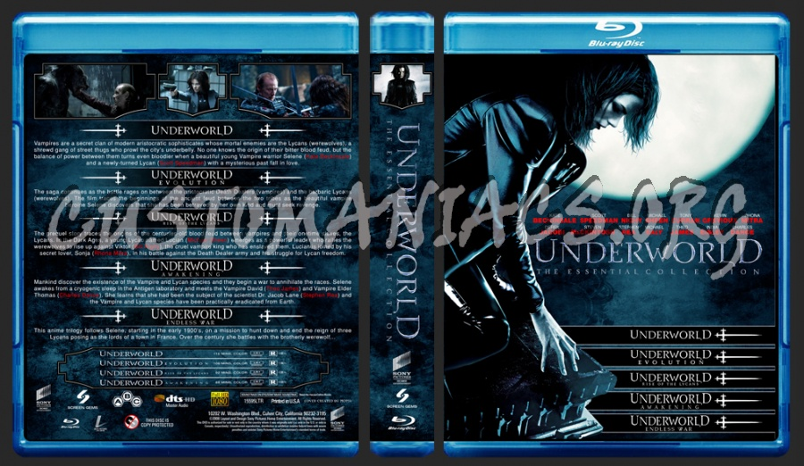 Underworld Essential Collection blu-ray cover