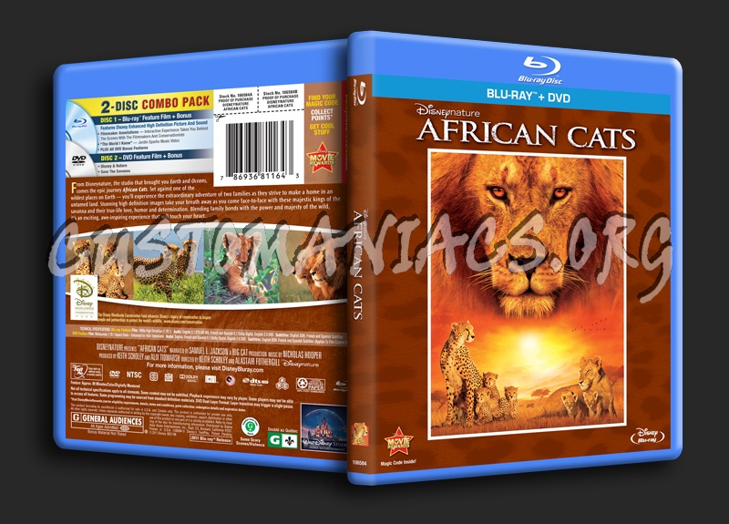 African Cats blu-ray cover