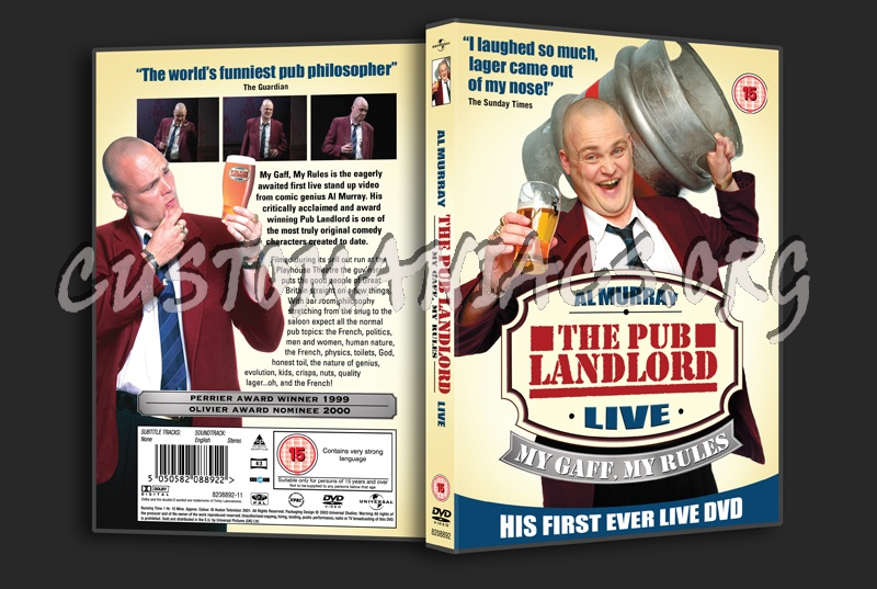Al Murray The Pub Landlord: My Cafe, My Rules  Live dvd cover