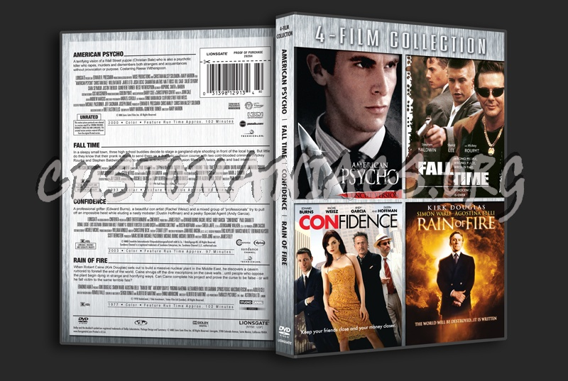 American Psycho / Fall Time / Confidence / Rain of Fire dvd cover
