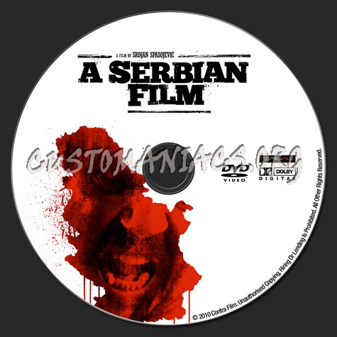 A Serbian Film dvd label