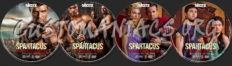Spartacus Vengeance Season 2 dvd label
