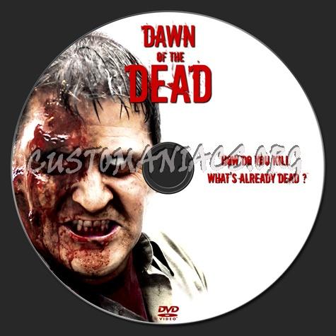 Dawn Of The Dead (2004) dvd label