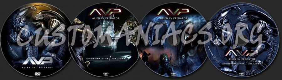 Alien vs Predator dvd label