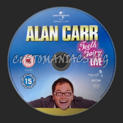 Alan Carr Tooth Fairy Live dvd label