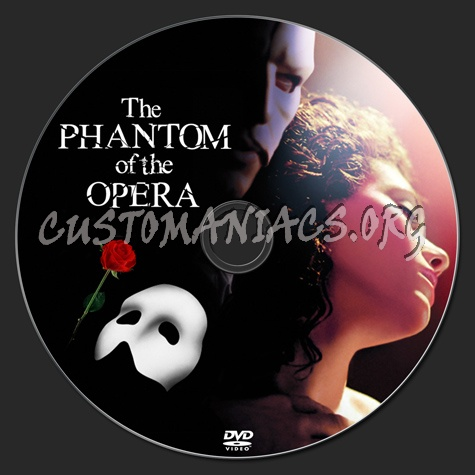 Phantom Of The Opera dvd label