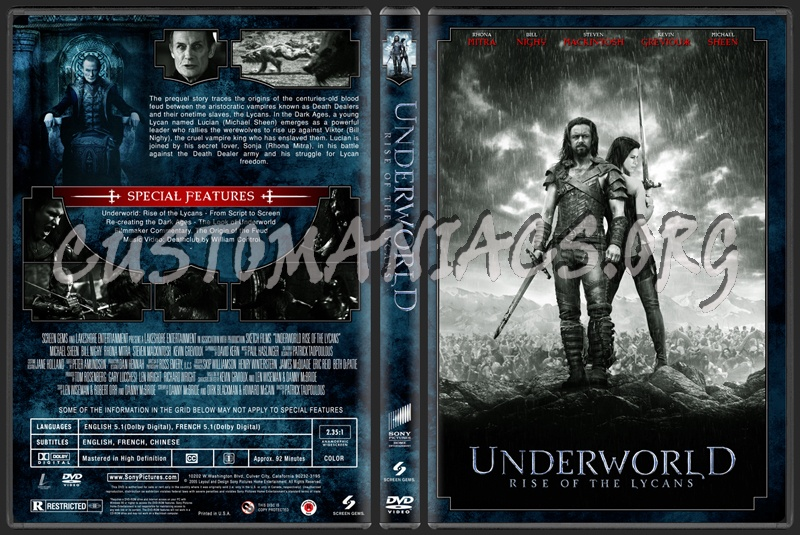 Underworld Rise Of The Lycans dvd cover
