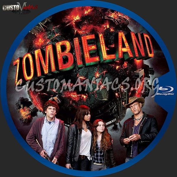 Zombieland blu-ray label