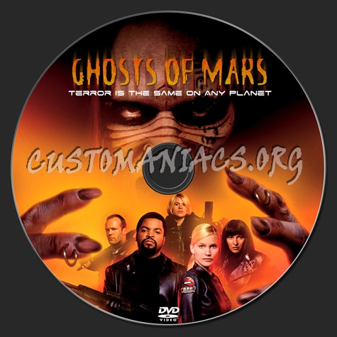 Ghosts Of Mars dvd label