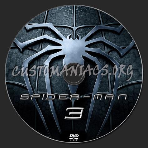 Spider-man 3 dvd label