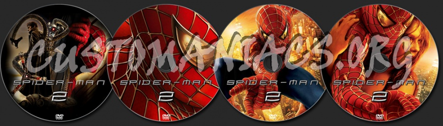 Spider-man 2 dvd label