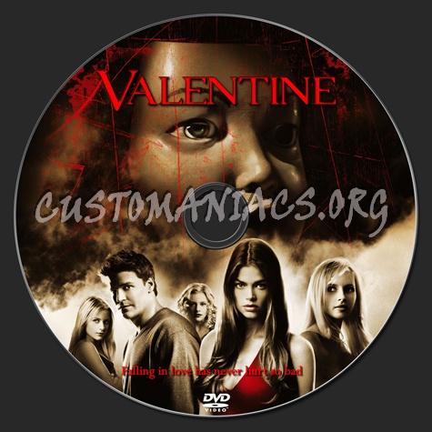 Valentine dvd label