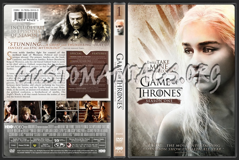Game Of Thrones Season 1 Dvd Cover Dvd Covers Labels By