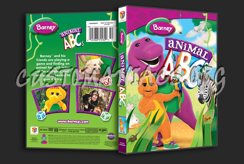 Barney Animal Abcs Dvd Cover Dvd Covers Labels By Customaniacs