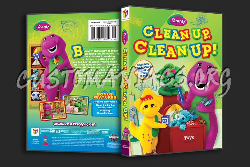 Barney: Clean Up, Clean Up! dvd cover
