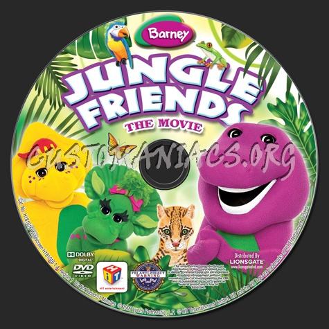 Barney: Jungle Friends dvd label