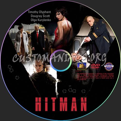 Hitman dvd label
